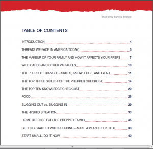 family survival table of contents