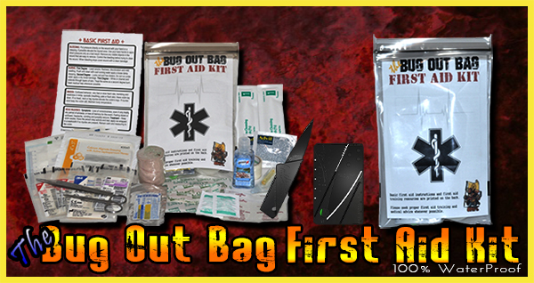 The Bug Out Bag First Aid Kit with Knife