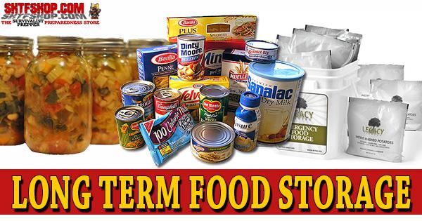 Long Term Food Storage Techniques & Ideas