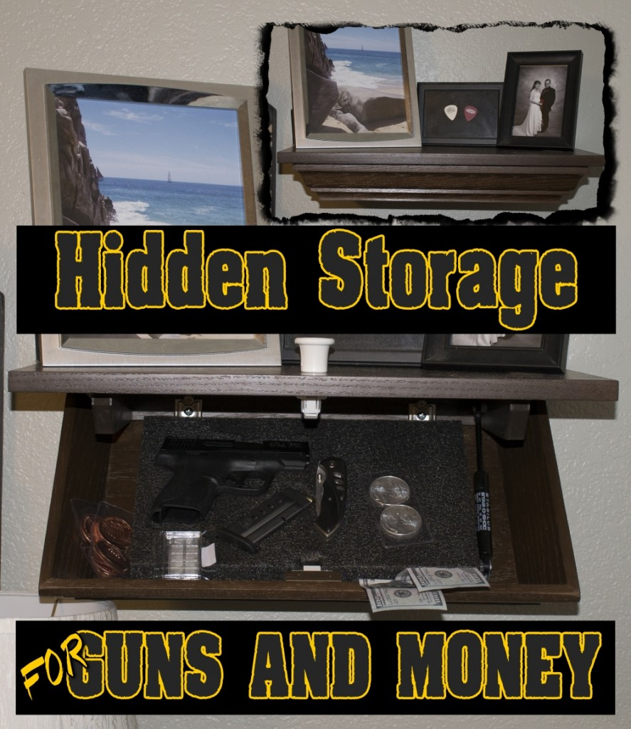 Hidden Handgun Cabinet Shelf and Giveaway