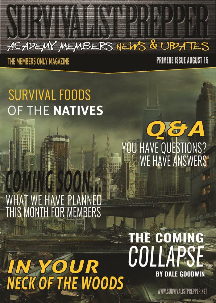 Survivalist Prepper Academy Members Magazine