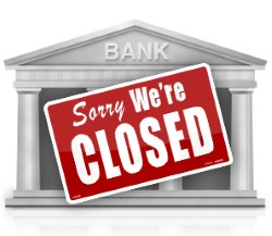 power grid failure banks closed