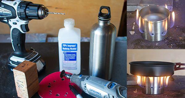 Make a Homemade Ultralight Camping Stove