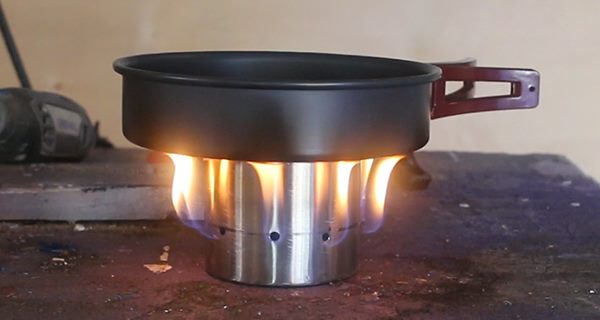 Finished Diy Camp Stove