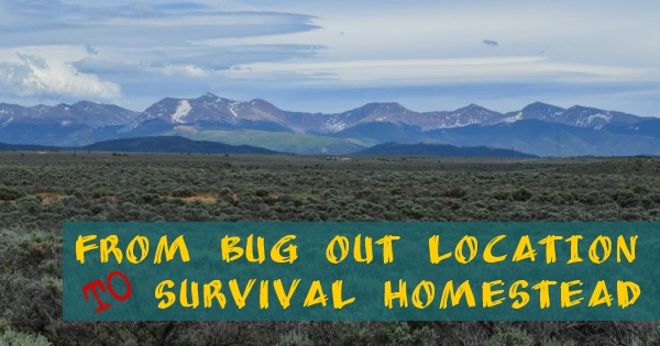 from bug out location to survival homestead