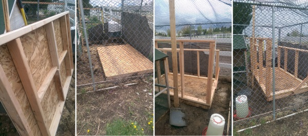 Chicken Coop Foundation and Walls Frame