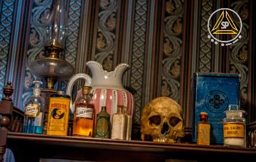 Medicine and skull