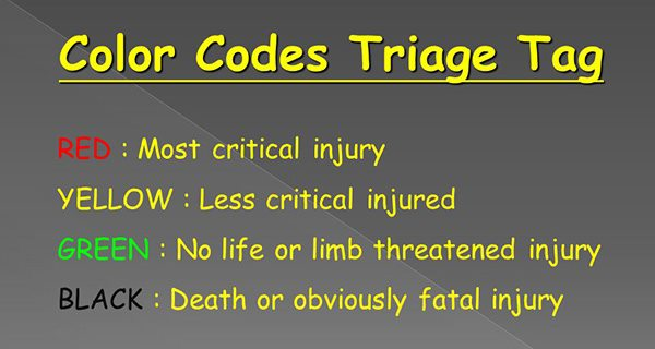 Triage color tags